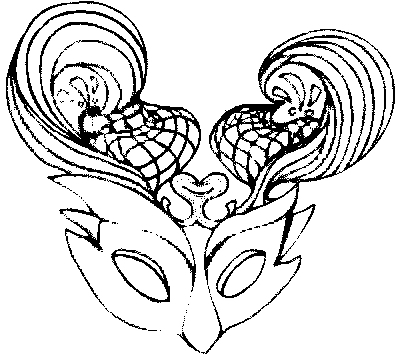 Masques carnaval coloriage - Coloriage masques ...