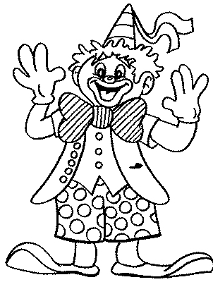 Clown balloons coloring page - Clown coloriage ...