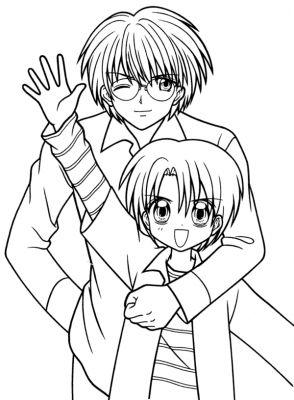 Coloriage Manga Fille Et Garcon.Coloriage Coloriage Coloriage Manga