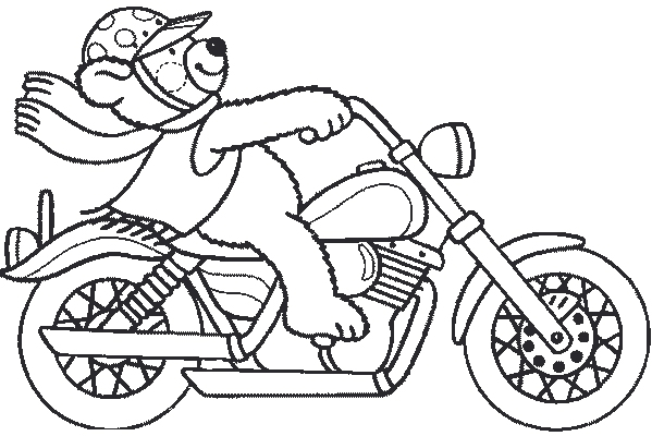 Dessin moto - Coloriage enfant cars ...