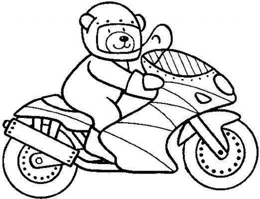 Moto enfants dessin - Dessin a imprimer moto ...