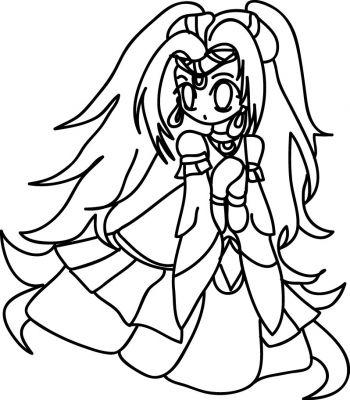 Coloriage Coloriage Coloriage Manga Chibi Princesse
