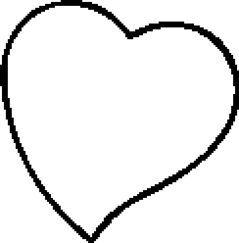 Pin coeur a colorier et ours on pinterest - Coloriage de coeur d amour ...