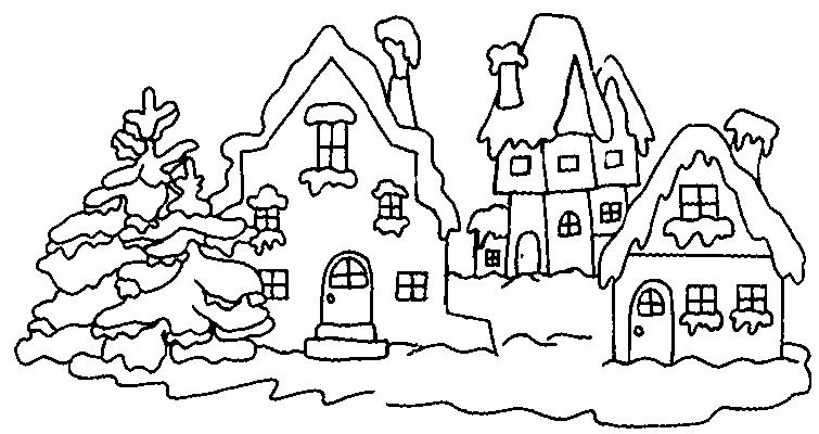 coloriage a imprimer hiver