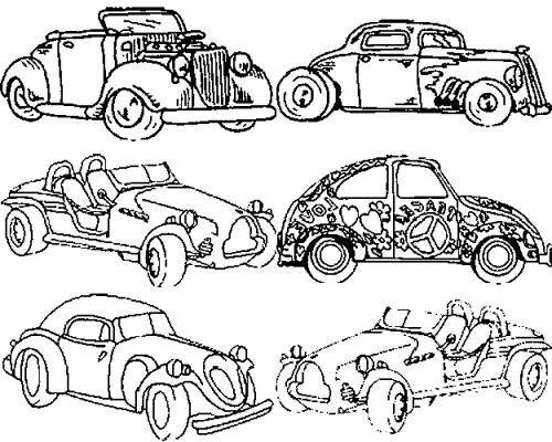 voiture de course coloriage